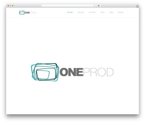 Best WordPress theme TheFox - oneprod.tv