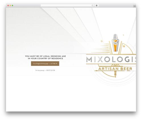 Theme WordPress Betheme - mixologist.beer