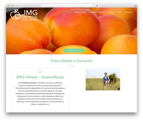 Versatile theme WordPress - jmg-dietetyk.pl