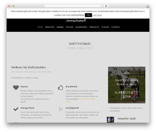 WordPress template HorseClub - smittystables.nl