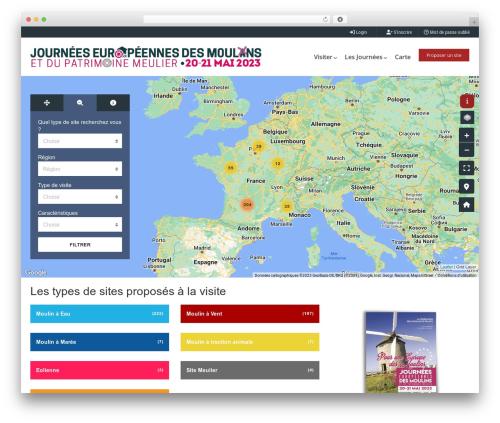 WordPress template Pointfinder - journees-europeennes-des-moulins.org