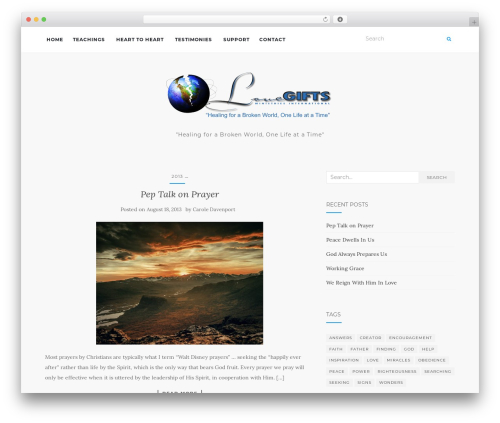 Activello free WordPress theme - teachings.lovegiftsministries.com