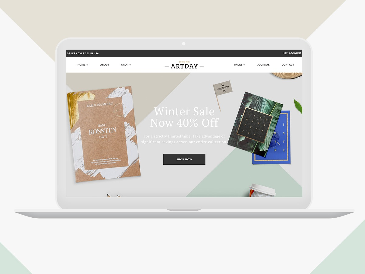 Artday Child Theme WordPress ecommerce theme