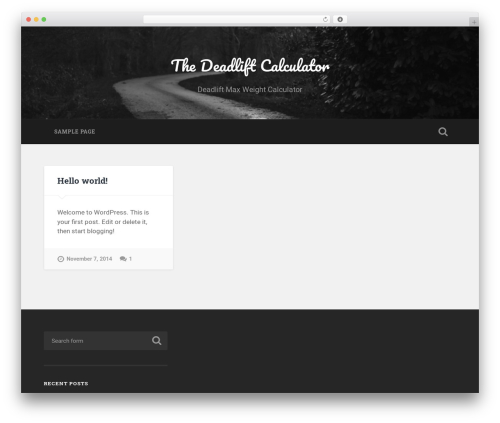 Baskerville free WP theme - thedeadliftcalculator.com