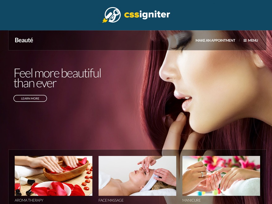 beaute premium WordPress theme