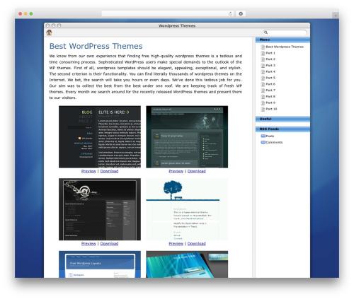 Best WordPress template BlueSky - tagwarrior.com