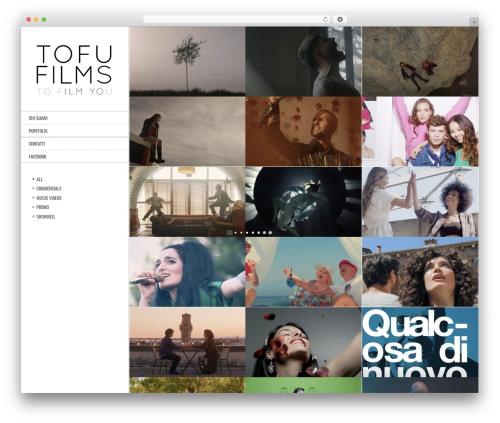 Best WordPress template Other - tofufilms.com