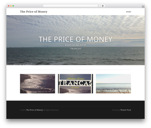 Best WordPress theme Hero - thepriceofmoneymovie.com