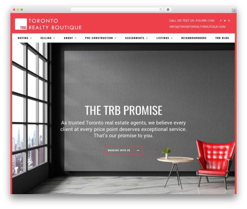 BOUTIQUE real estate template WordPress - torontorealtyboutique.com