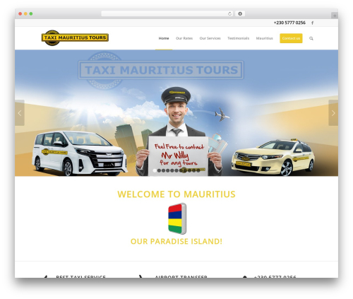 Enfold WordPress hotel theme - taximauritiustours.com