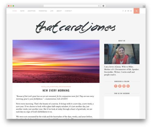 Florence WordPress theme - thatcaroljones.com