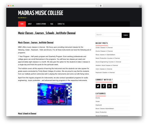 Free WordPress WordPress Local SEO plugin - madrasmusiccollege.com