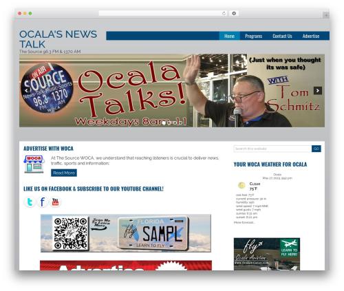 Joshua newspaper WordPress theme - thesource1370.com