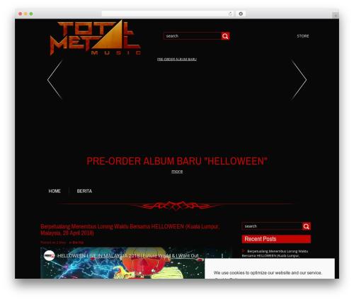 Metal theme WordPress - total-metal.info