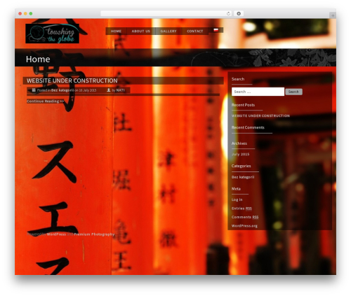 Premium Photography WordPress theme image - touchingtheglobe.com