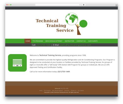Pure & Simple best free WordPress theme - techtrainingservice.com