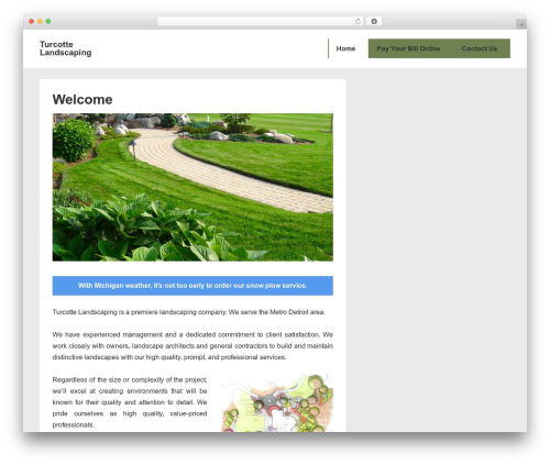 Responsive theme WordPress free - turcottelandscaping.com