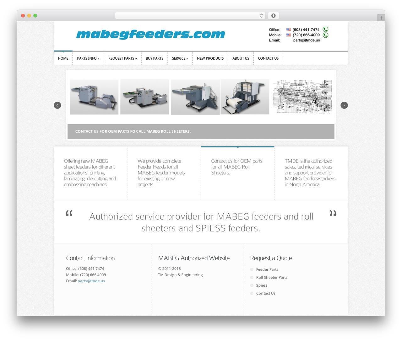 Template WordPress Trim - mabegfeeders.com