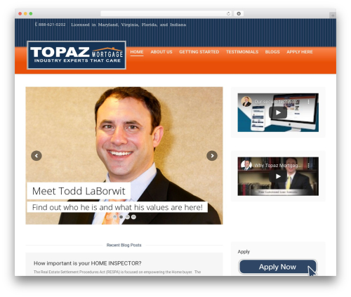 The7 WordPress theme - topazmortgage.com