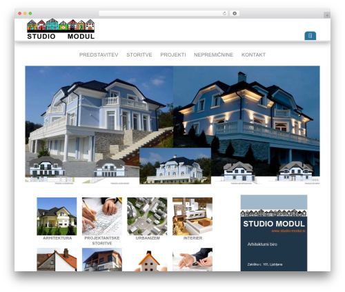 White best WordPress theme - test.studio-modul.si