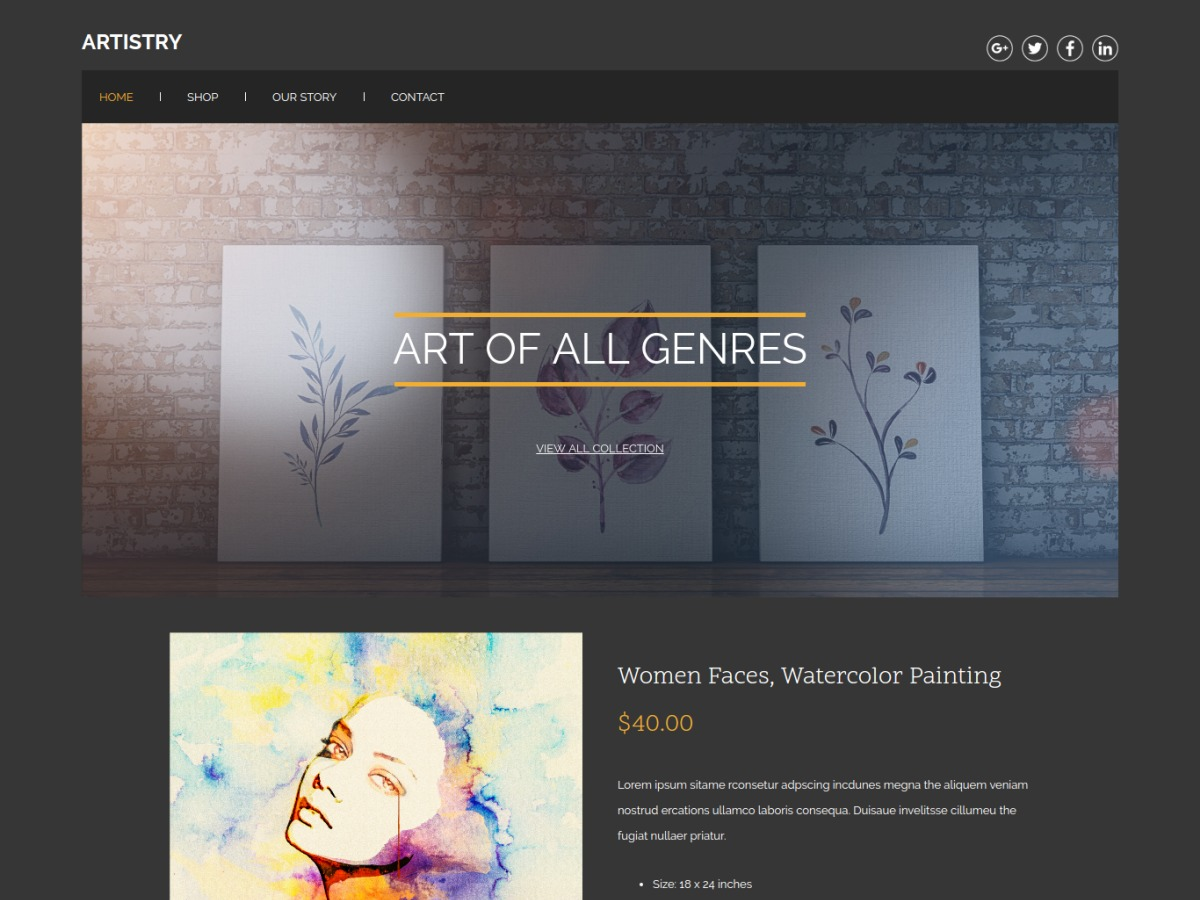 WordPress theme artistry