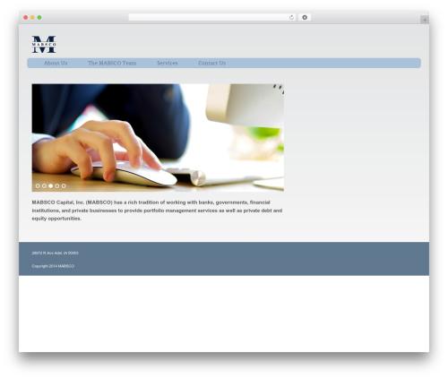 WordPress theme Augustus - mabsco.com