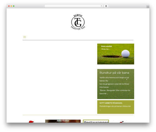 WordPress theme Betheme - tonnersjogolf.se