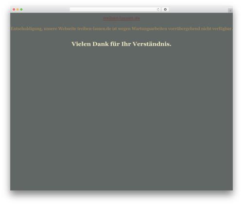 WordPress theme tegude - treiben-lassen.de
