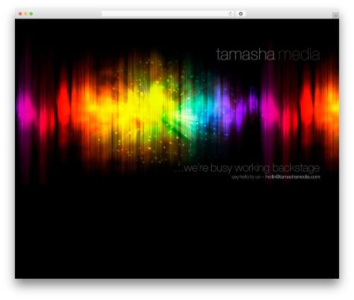 WordPress website template Coming Soon - tamashamedia.com