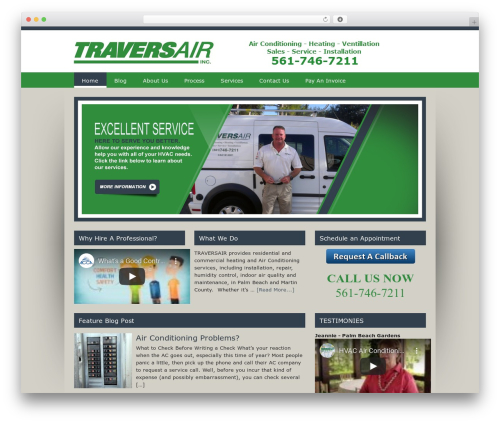 WordPress website template Genesis - traversair.com