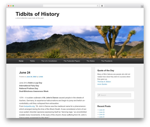WP template Catch Evolution - tidbitsofhistory.com