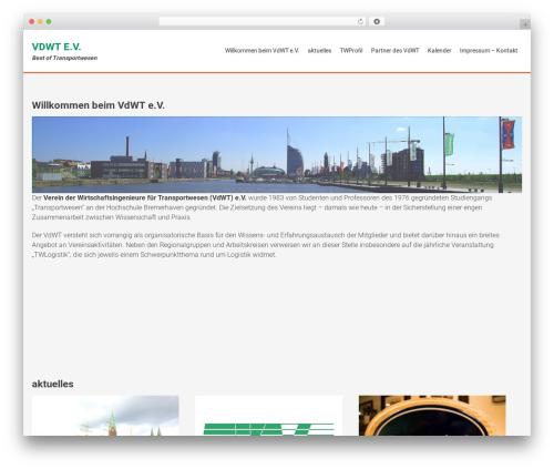 AccessPress Parallax best free WordPress theme - vdwt.de