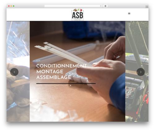 Betheme WordPress page template - asbugey.fr