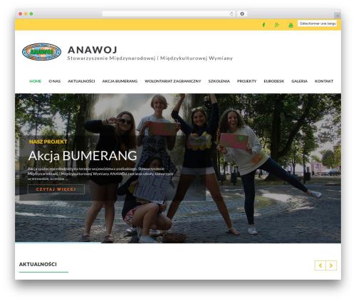 Charity WPL WordPress theme design - anawoj.org