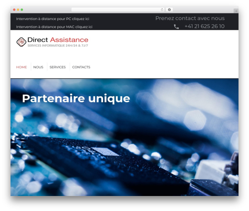 MaxGadget WordPress page template - directassistance.ch