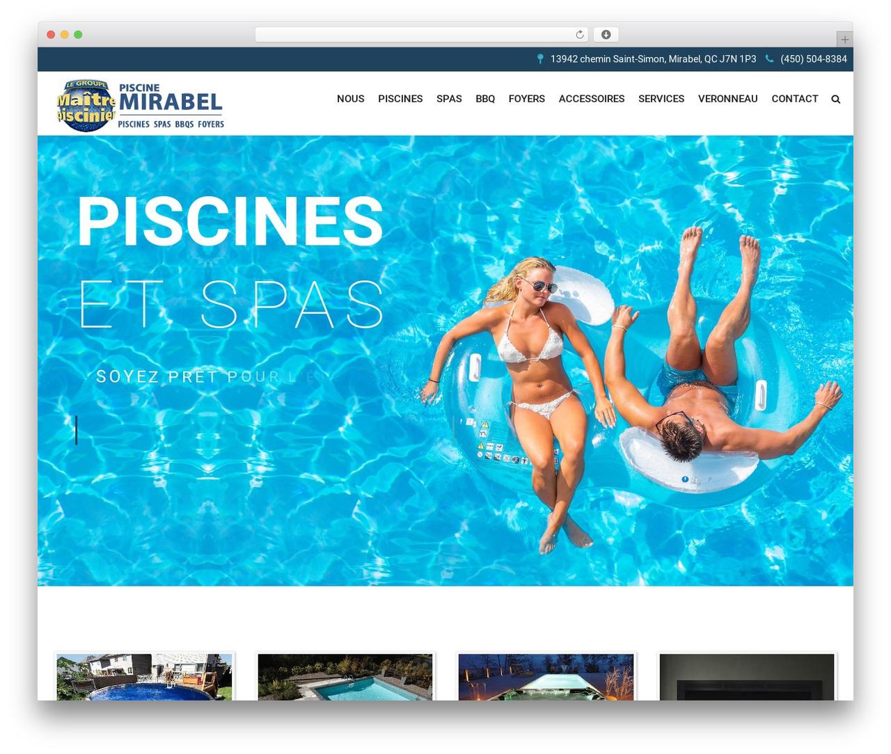 SwimmingPool theme WordPress - piscinemirabel.com