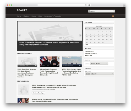 WordPress template Arras - mscsealift.dodlive.mil
