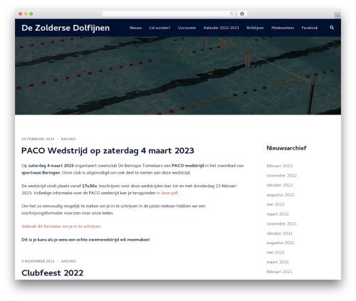 WordPress website template Sydney - zoldersedolfijnen.be