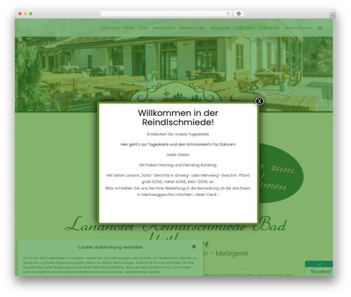 Basisframework WordPress restaurant theme - reindlschmiede.de