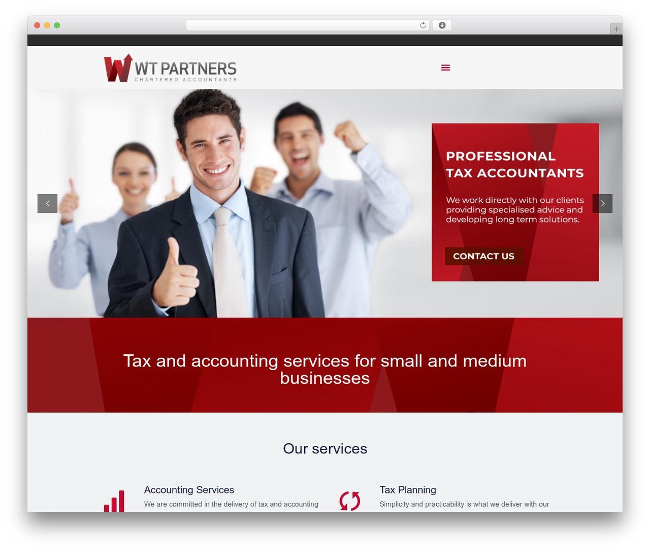 Betheme best WordPress theme - wtpartners.com.au