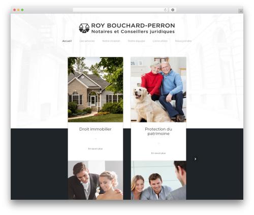 Bizly WordPress website template - notairesrbp.ca