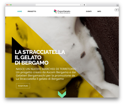 Inspirado template WordPress - expogelato.it