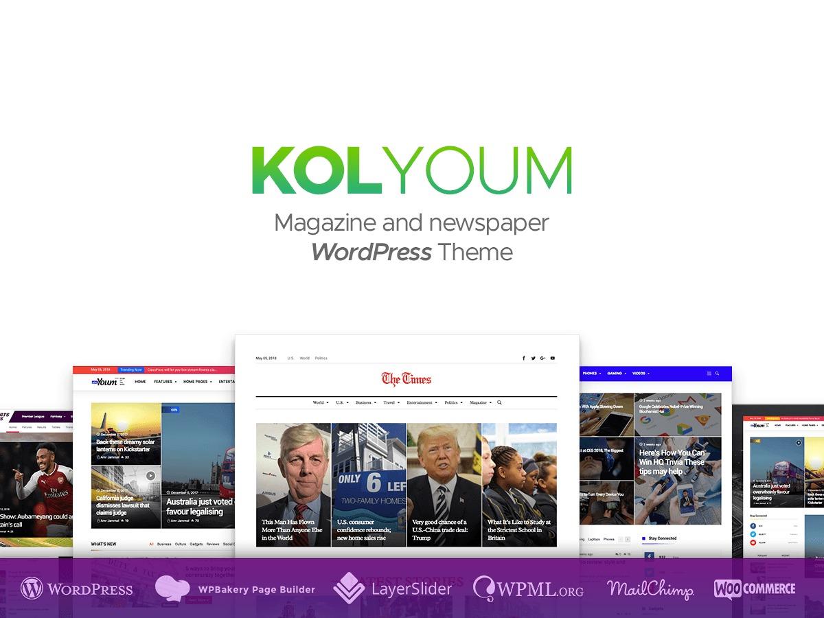 Kolyoum WordPress news theme