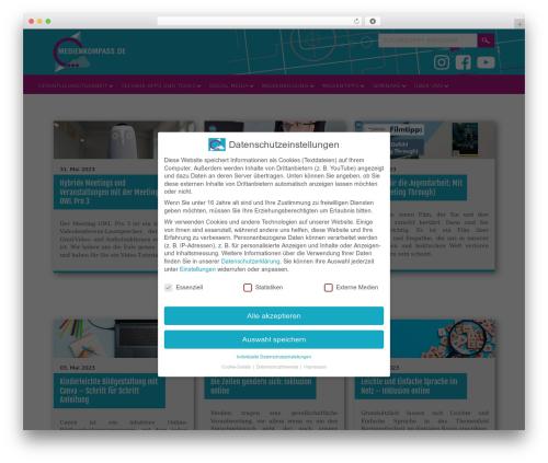 Selfie WordPress theme design - medienkompass.de