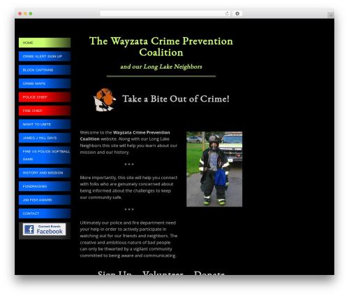 WordPress theme SmartAdapt - wayzatacrimeprevention.org