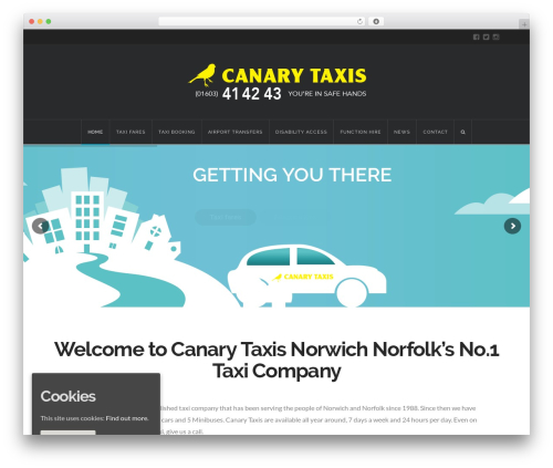 X best WordPress template - canary-taxis.co.uk