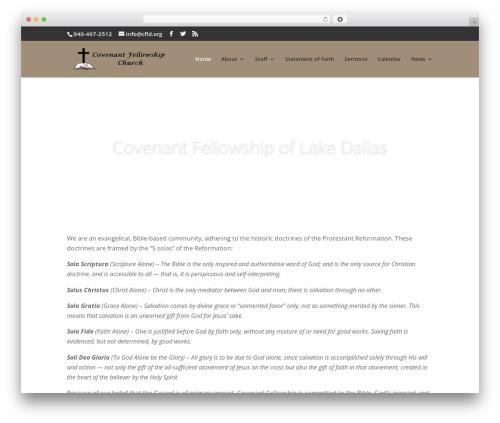 Divi WordPress theme - cfld.org