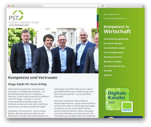 Silberweiss WordPress theme - pst-berater.de