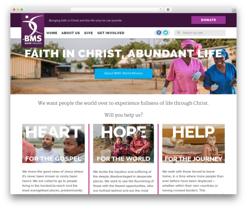 BMS premium WordPress theme - bmsworldmission.org