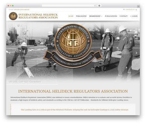 Honos top WordPress theme - ihra.international